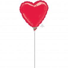 Heart Metallic Red Love Shaped Balloon 22cm