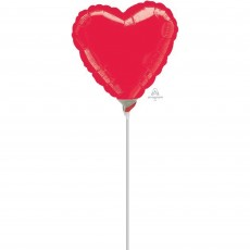 Love Metallic Red  Shaped Balloon