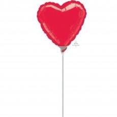 Heart Metallic Red Love Shaped Balloon 10cm