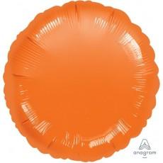 Round Metallic Orange Standard HX Foil Balloon 45cm