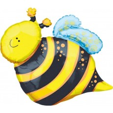 What Will It Bee? SuperShape XL Happy Bee Shaped Balloon 61cm x 63cm