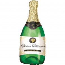 New Year SuperShape XL Champagne Bottle Shaped Balloon 35cm x 91cm