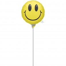 Emoji Smile Foil Balloon 22cm