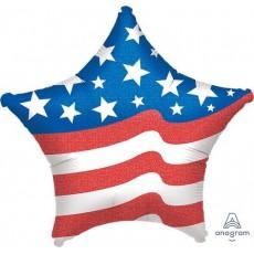 USA Standard XL Patriotic Shaped Balloon
