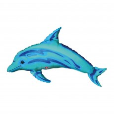 Blue Mini Shape Ocean  Dolphin Shaped Balloon