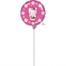 Round Hello Kitty Bee Foil Balloon 22cm