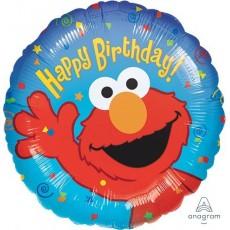 Round Sesame Street Elmo Standard HX Happy Birthday! Foil Balloon 45cm