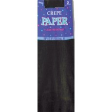 Black Party Supplies - Crepe Paper Folds