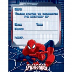 Spider-Man Ultimate Invitations
