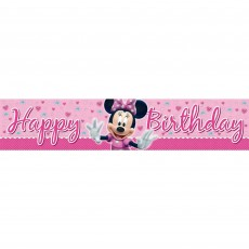 Minnie Mouse Plastic Banner