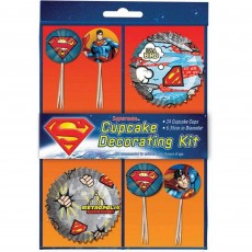 Superman Party Supplies - Cupcake Cases Picks &