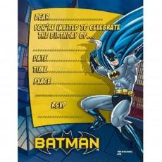 Batman Invitations Pack of 8