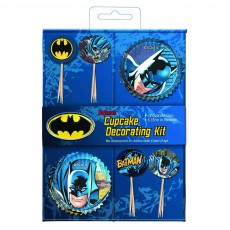 Batman Decorating Kit Cupcake Cases For 24 Cupcakes Pack of 48