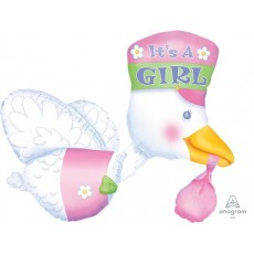 Baby Shower - General Multi-Balloon Bundle of Joy Stork Shaped Balloon