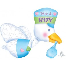Baby Shower - General Stork Foil Balloon