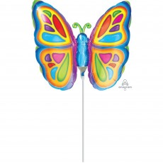 Multi Colour Bright Butterfly Mini Shaped Balloon