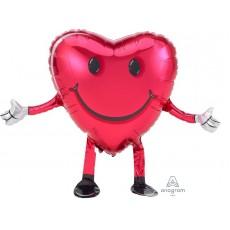 Emoji Happy Hugs Smiley Face Buddies Airwalker Foil Balloon