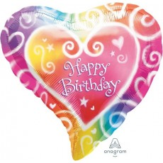 Happy Birthday Watercolor Standard XL Shaped Balloon
