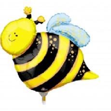What Will It Bee? Mini Happy Bee Shaped Balloon