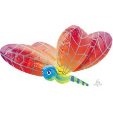 Rainbow UltraShape  Dragonfly Shaped Balloon
