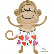 Love SuperShape XL  Monkey Shaped Balloon