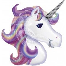 Unicorn Fantasy Pastel Coloured Unicorn Head Shaped Balloon