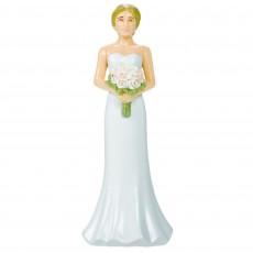 Wedding Blonde Hair Bride Plastic Cake Topper 10.4cm