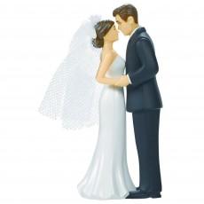 Wedding Bride & Groom Plastic Cake Topper 11.4cm