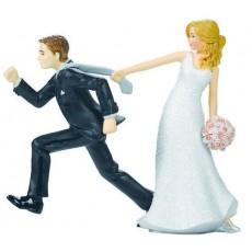 Wedding Tie Puller Cake Topper 10.4cm