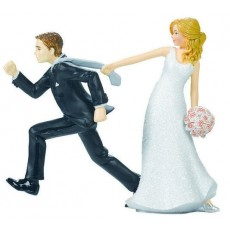 Wedding Tie Puller Cake Topper