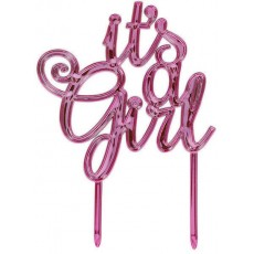 Baby Shower - General It's a Girl! Cake Topper 13.3cm x 10cm