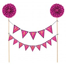Pink Happy Birthday to You! Cake Topper 23.4cm x 27.3cm