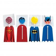 Justice League Party Supplies - Heroes Unite Lollipop Capes