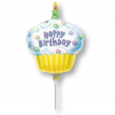 Happy Birthday Cupcake Mini Shaped Balloon