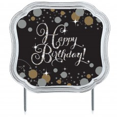 Happy Birthday Sparkling Celebration Cake Topper