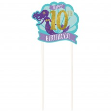 Mermaid Wishes Customizable Cake Toppers Pack of 12