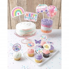 Girl-Chella Party Supplies - Cake Toppers