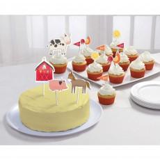 Barnyard Cake Toppers Pack of 12