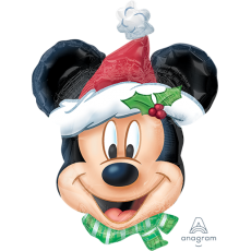 Christmas SuperShape Mickey Mouse Shaped Balloon