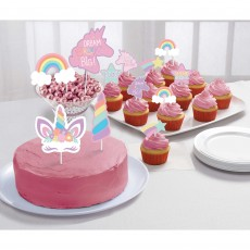 Unicorn Fantasy Party Supplies - Cake Toppers Unicorn Party