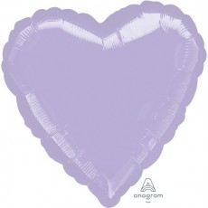 Lilac Party Decorations - Shaped Balloon Metallic Pearl Pastel Heart