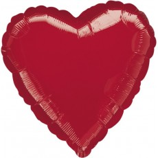 Heart Metallic Red Love Standard HX Shaped Balloon 45cm