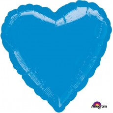 Love Metallic Blue Standard HX Shaped Balloon