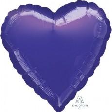 Heart Metallic Purple Standard HX Shaped Balloon 45cm