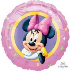 Round Minnie Mouse Standard HX Minnie Portrait Foil Balloon 45cm