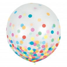 Dots Blue & Silver Confetti Latex Balloons