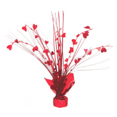 Red Metallic Spray Centrepiece