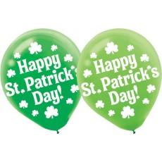 St Patrick's day Shamrock Latex Balloons