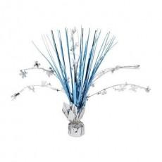 Christmas Blue & Silver Snowflake Spray Foil Centrepiece