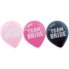 Teardrop Assorted Colours Hens Night Team Bride Latex Balloons 30cm Pack of 15